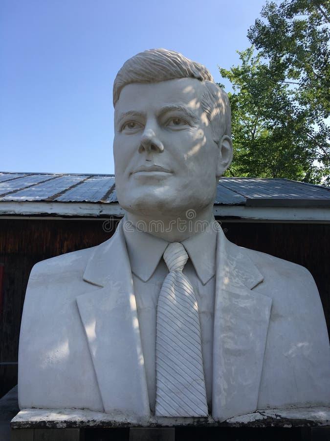 Estátua de JFK fotografia de stock