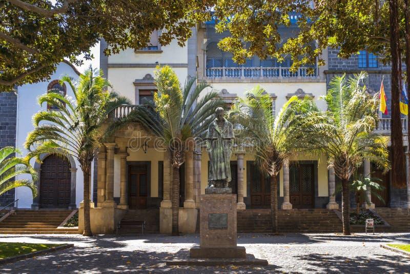 Estátua de Jose Murphy em Santa Cruz de Tenerife fotos de stock royalty free