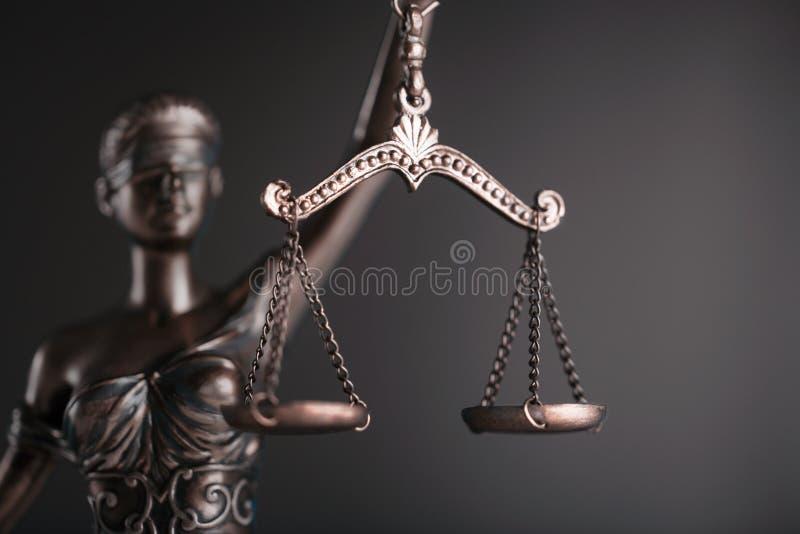 Estátua de justiça imagem de stock