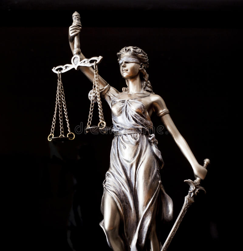 Estátua de justiça fotografia de stock royalty free