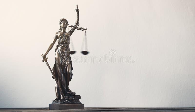 Estátua de justiça imagens de stock