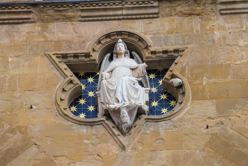 Estátua de justiça no dei Lanzi da loggia, Florença, Itália fotografia de stock royalty free