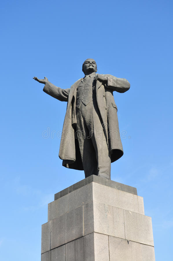 Estátua de Lenin fotos de stock royalty free