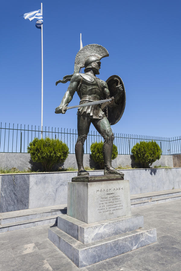 Estátua de Leonidas foto de stock