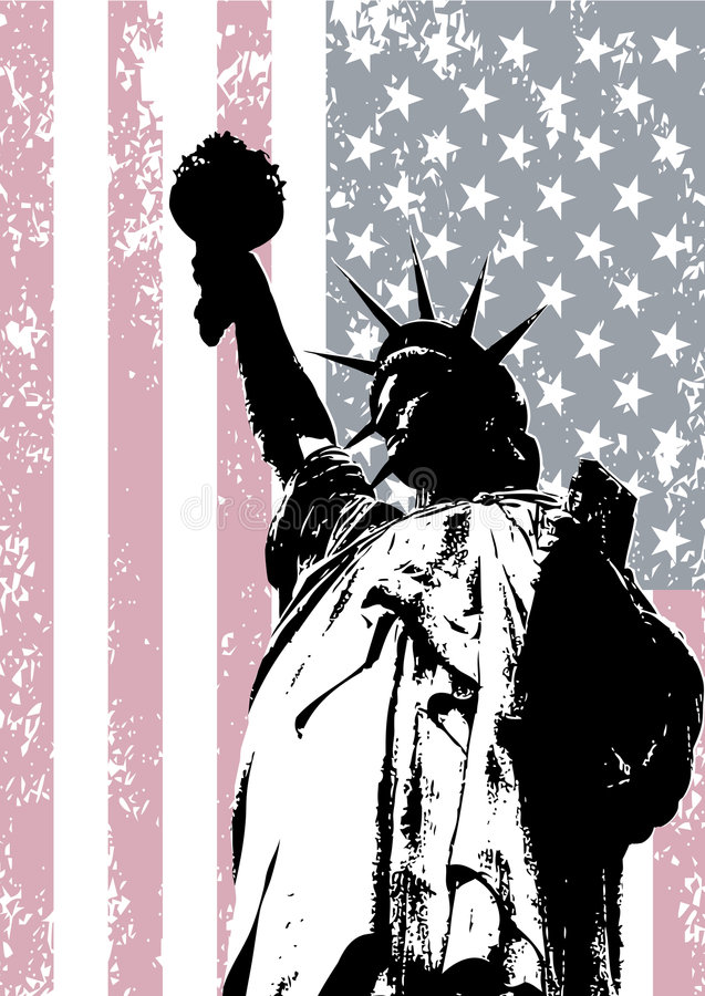 Estátua de liberdade ilustração do vetor