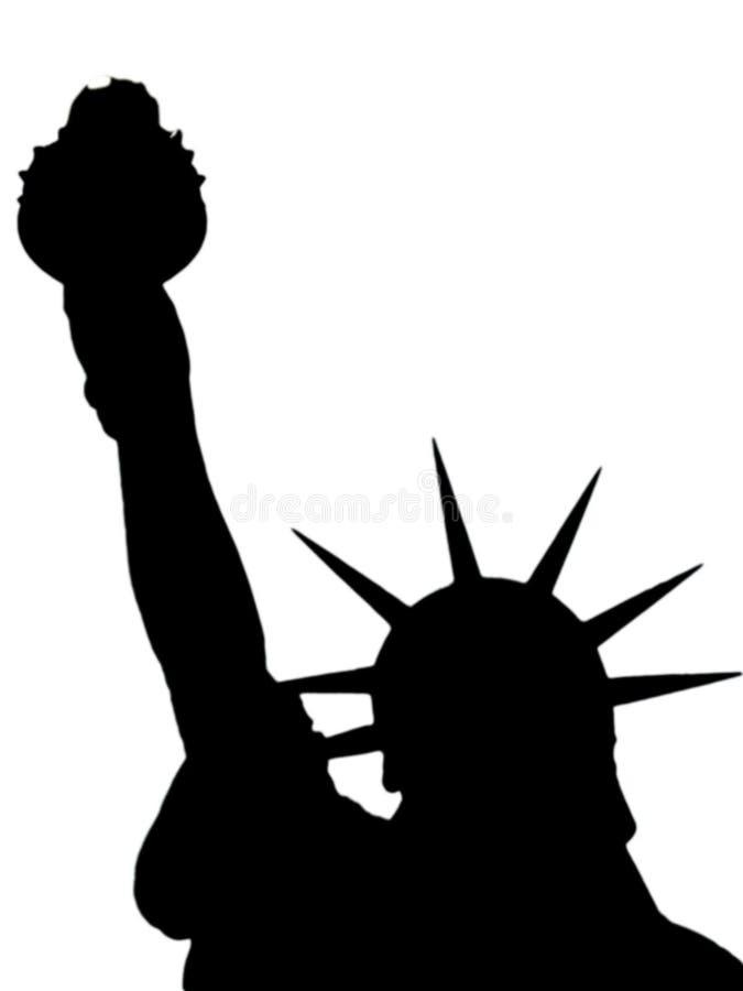 Estátua de liberdade ilustração royalty free