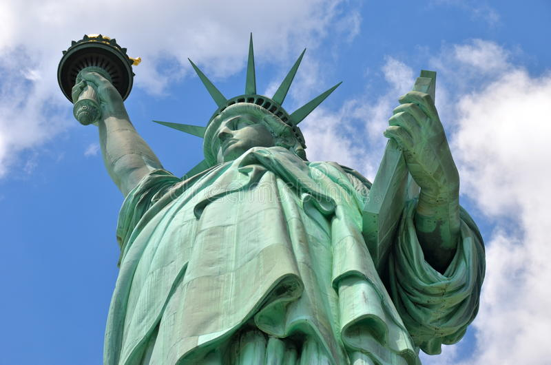 A estátua de liberdade em New York City fotografia de stock royalty free