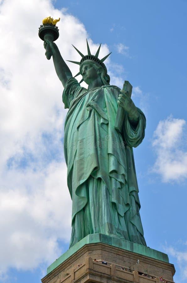 A estátua de liberdade em New York City imagens de stock