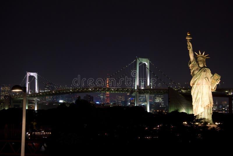 Estátua de liberdade em Tokyo fotografia de stock