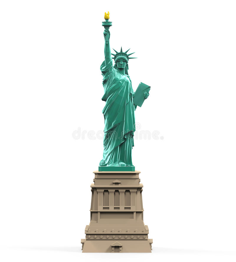 Estátua de liberdade isolada ilustração stock