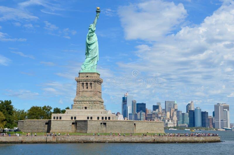 Estátua de liberdade, New York City imagem de stock