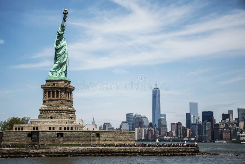 Estátua de Liberty New York Skyline Monument 7 fotografia de stock