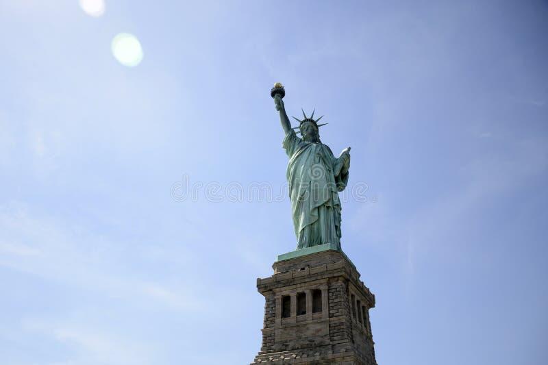 Estátua de Liberty New York Skyline Monument 8 imagens de stock