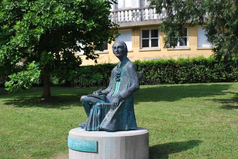 Estátua de Lorenzo da Ponte fotografia de stock royalty free