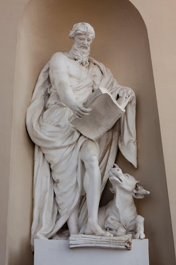Estátua de Luke o evangelista imagem de stock royalty free