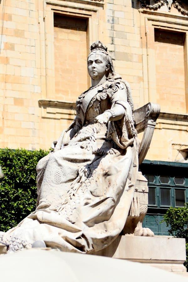 Estátua de mármore da rainha Victoria imagens de stock