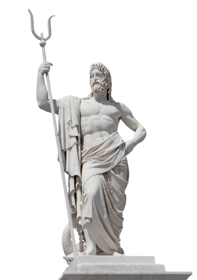 Estátua de mármore do deus Netuno do mar imagem de stock