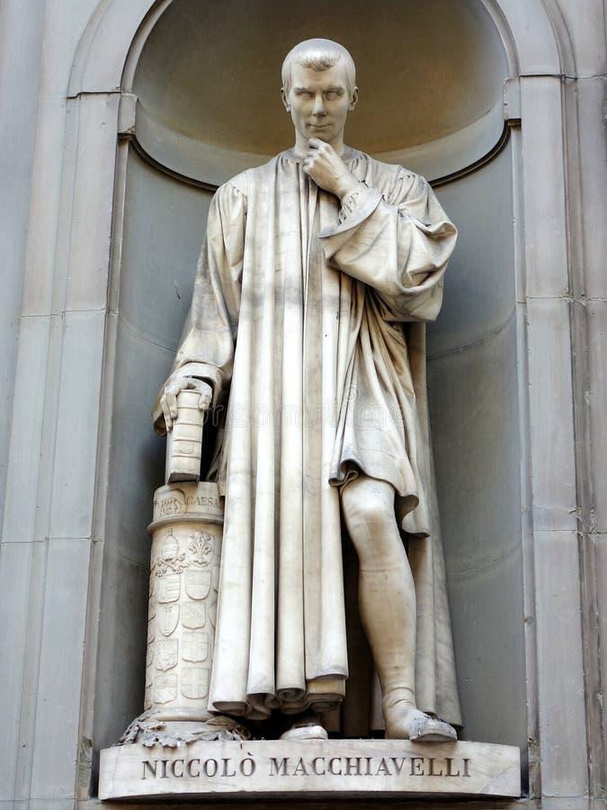 Estátua de Machiavelli fotografia de stock