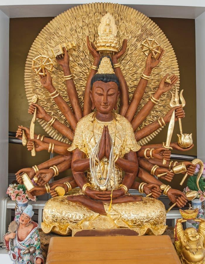Estátua de madeira de Brahma. fotografia de stock royalty free