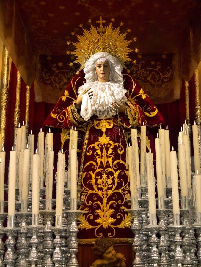 Estátua de Madonna - Orihuela - BLANCA da costela - Spain imagens de stock