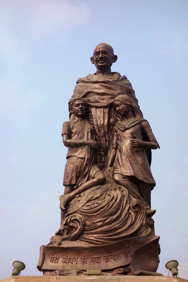 Estátua de Mahatma Gandhi fotografia de stock