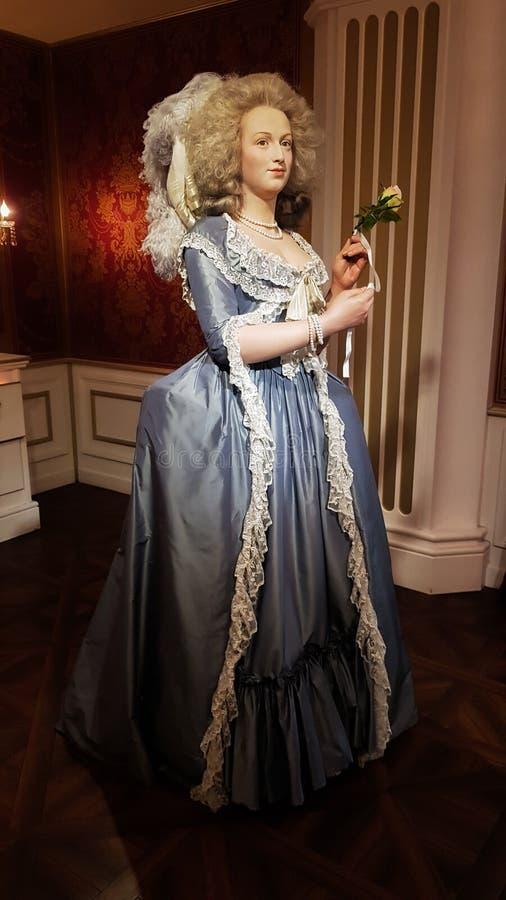Estátua de Marie Antoinette, Museu Viena da senhora Tussaud fotos de stock