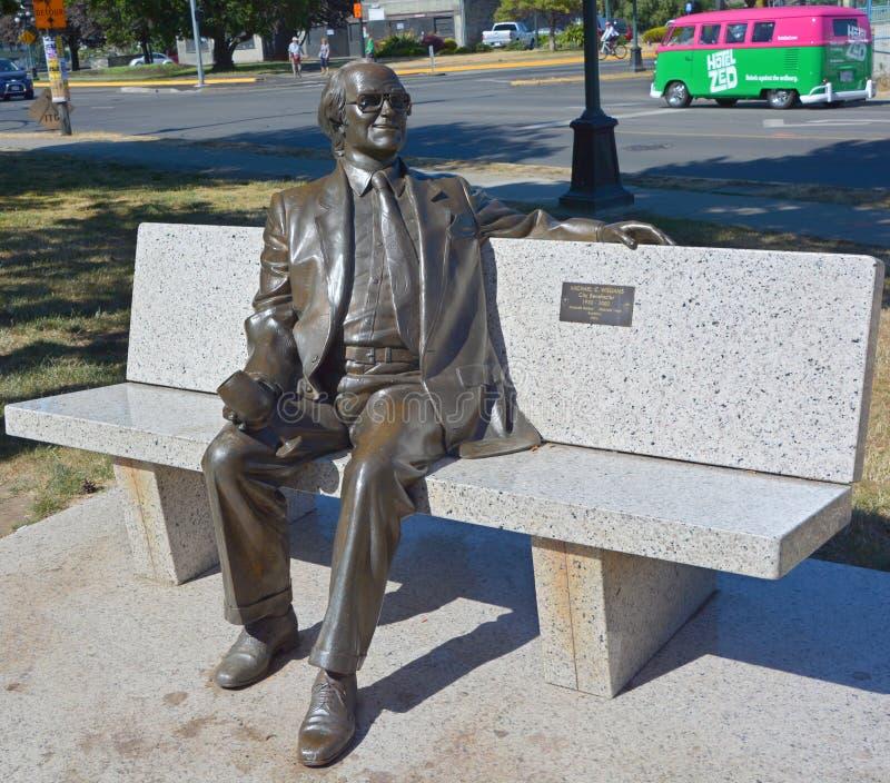 Estátua de Michael Collard Williams fotografia de stock