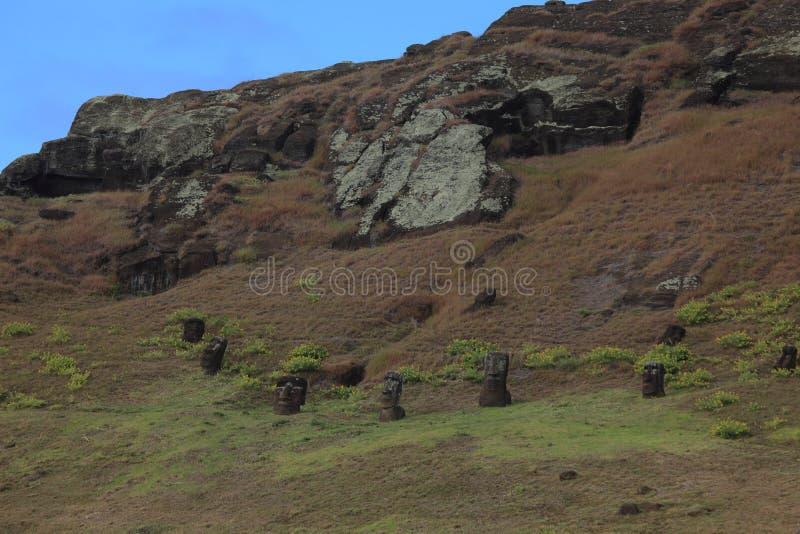 Estátua de Moai na Ilha de Páscoa imagem de stock