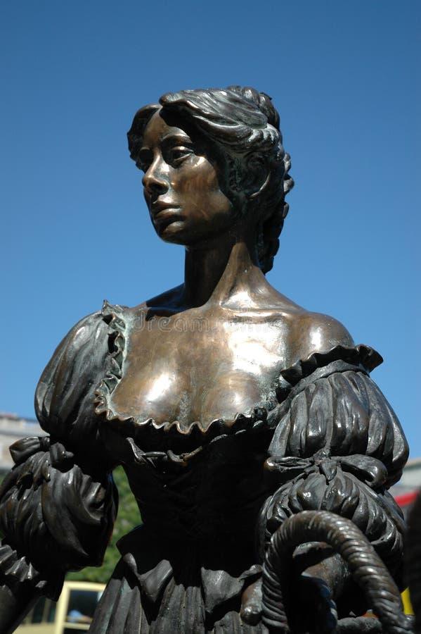 Estátua de Molly Malone imagens de stock