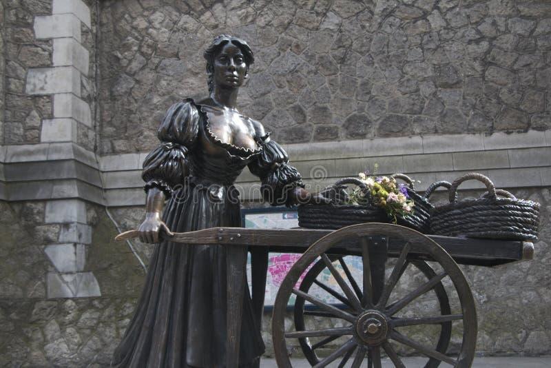 Estátua de Molly Malone, Grafton Street, cidade de Dublin imagens de stock
