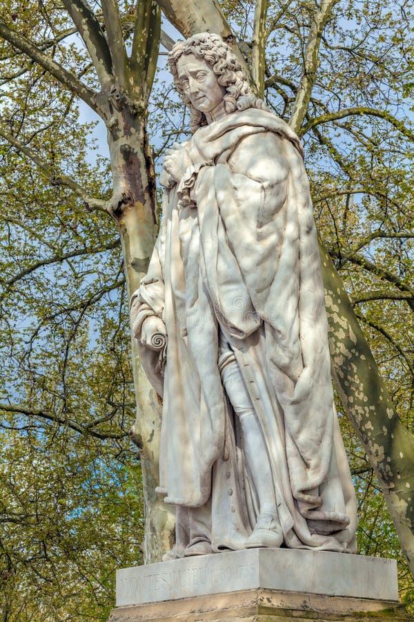 Estátua de Montesquieu, Bordéus imagem de stock