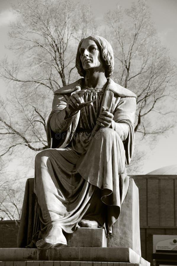 Estátua de Montreal de Nicolaus Copernicus foto de stock royalty free