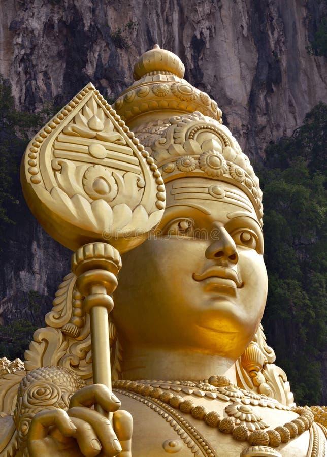 A estátua de Murugan no Batu desaba, Kuala Lumpur fotografia de stock