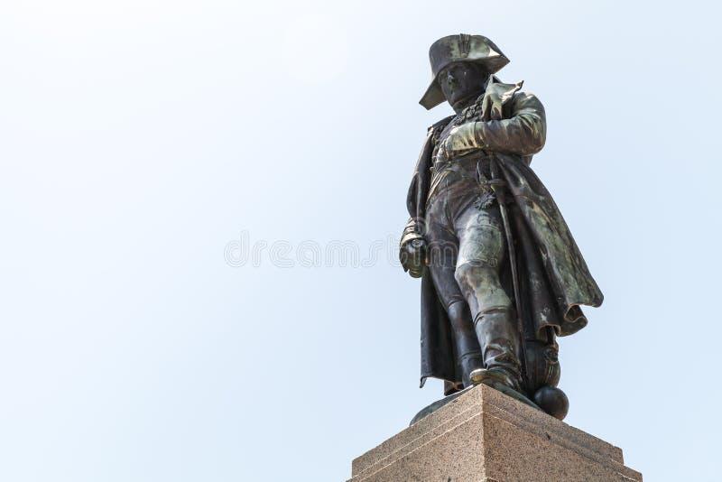 Estátua de Napoleon em Ajácio, Córsega, França fotos de stock