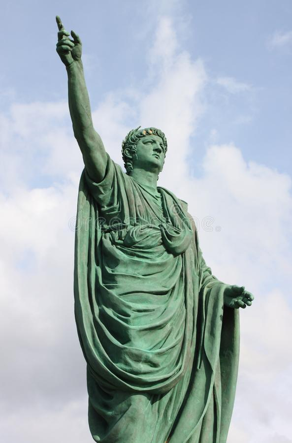 Estátua de Neron em Anzio fotos de stock