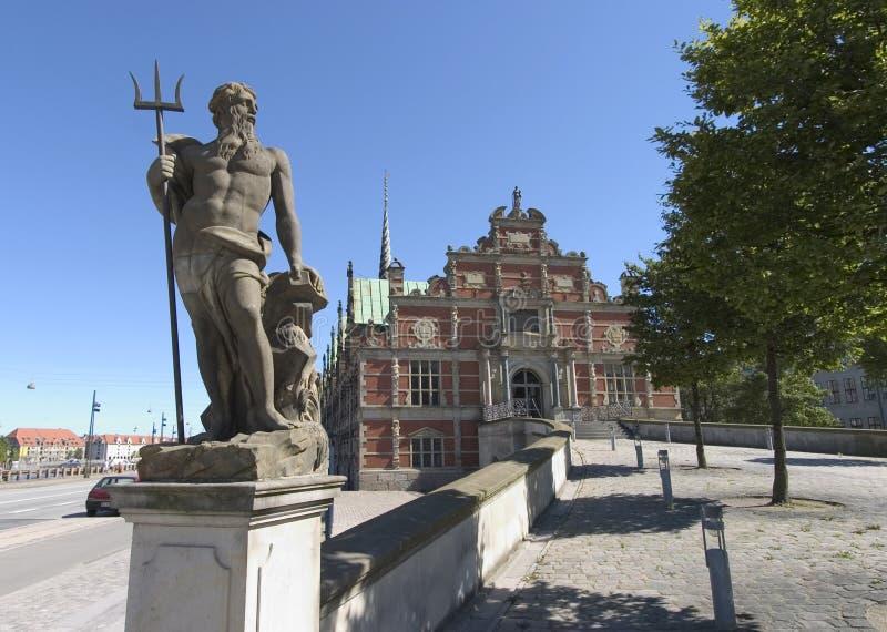 Estátua de Netuno, Copenhaga imagens de stock royalty free