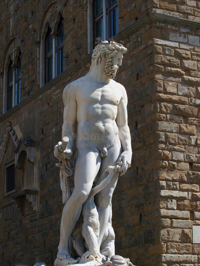 Estátua de Netuno em Florença fotos de stock