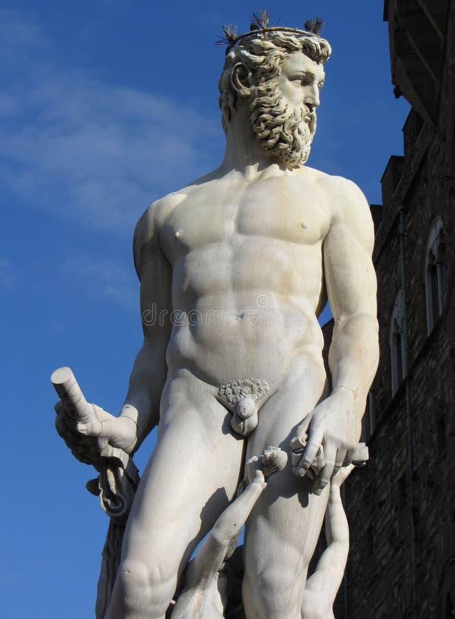 Estátua de Netuno em Florença imagem de stock royalty free