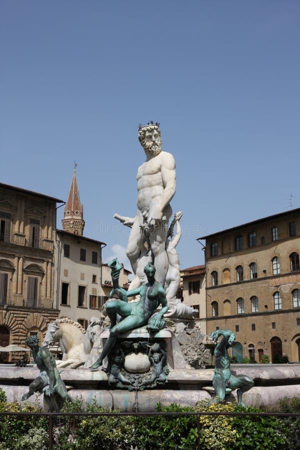 Estátua de Netuno em Florença, Italy foto de stock