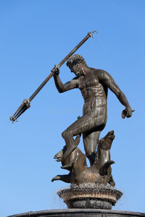 Estátua de Netuno em Gdansk fotografia de stock royalty free