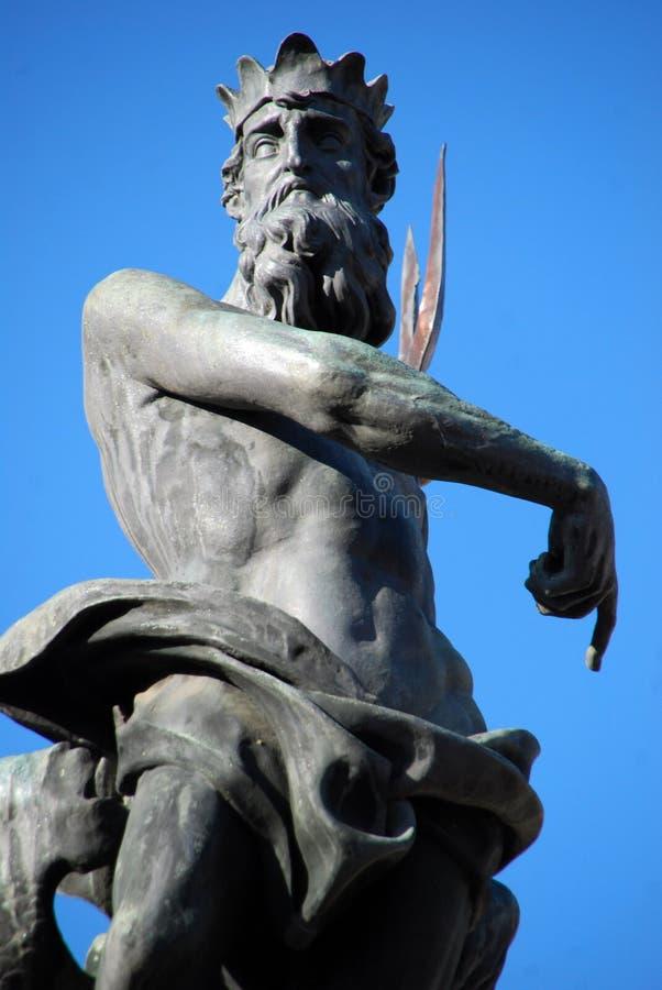Estátua de Netuno, a fonte de Netuno, Trento, Itália fotografia de stock royalty free