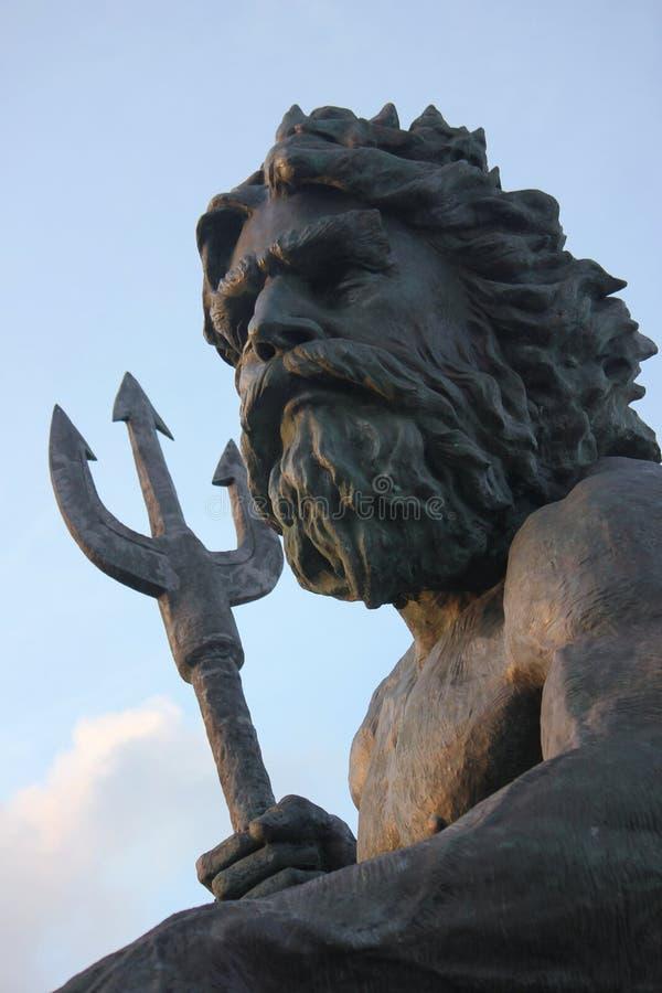 Estátua de Netuno, Virginia Beach imagem de stock