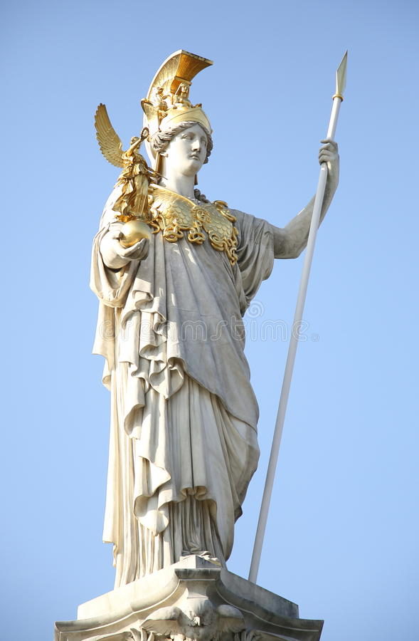 Estátua de Pallas Athene foto de stock