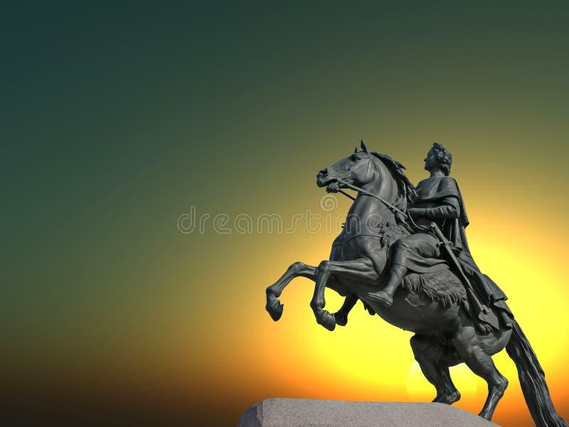Estátua de Peter ilustração royalty free