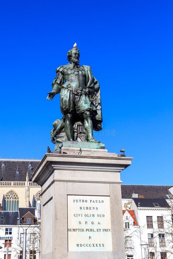 Estátua de Peter Paul Rubens fotos de stock royalty free