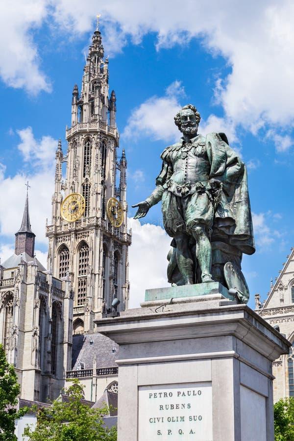 Estátua de Peter Rubens foto de stock