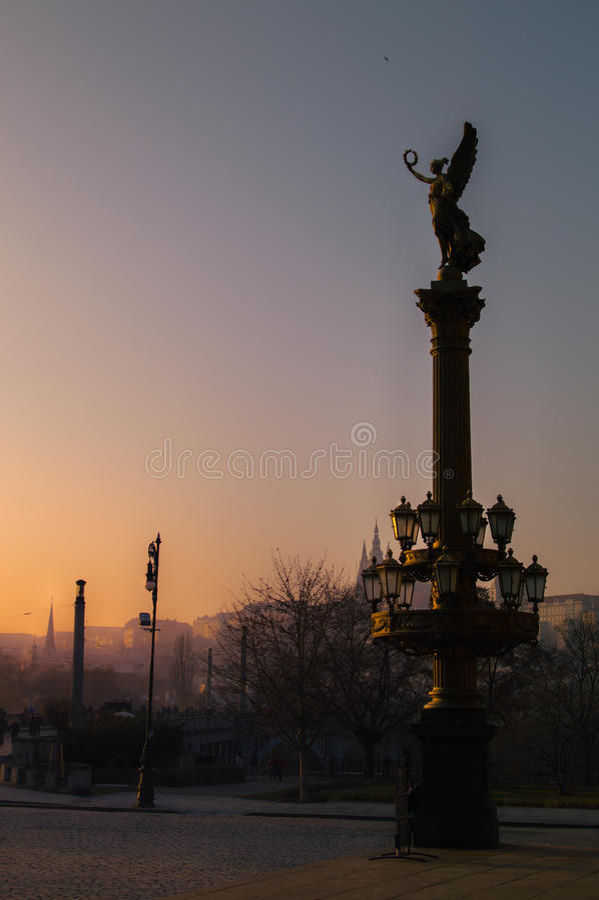 Estátua de Praga fotografia de stock royalty free