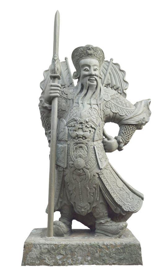 Estátua de protetores do chinês no templo de Wat Pho imagem de stock royalty free