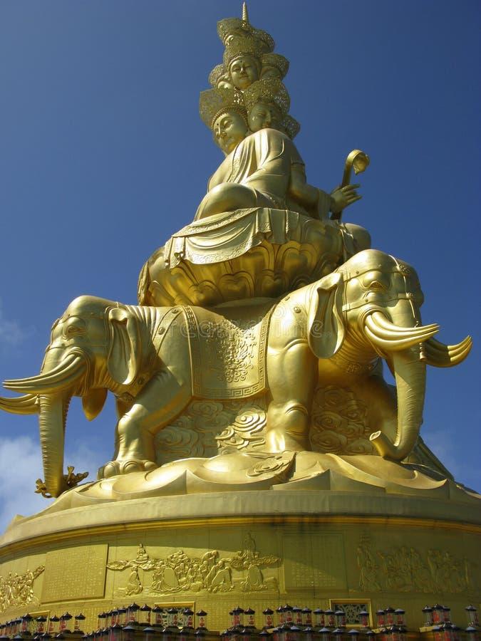 Estátua de Puxian Buddha fotografia de stock royalty free