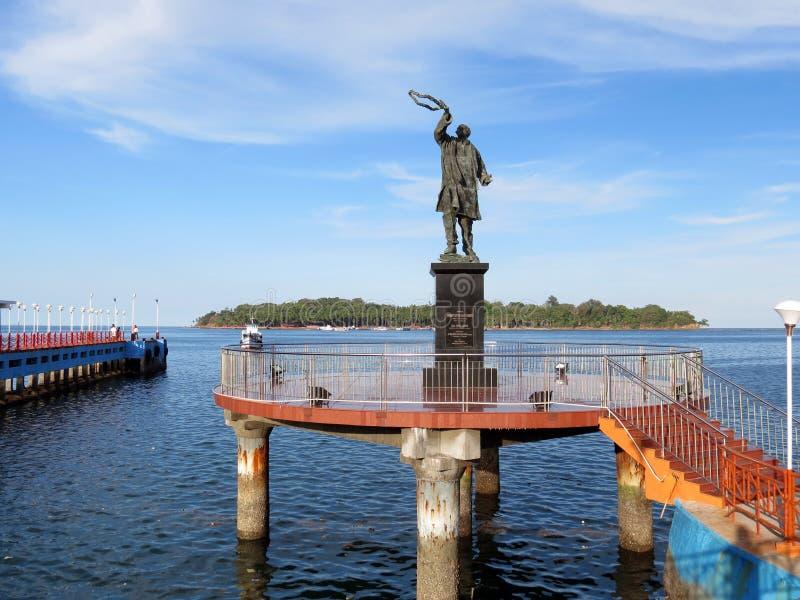 Estátua de Rajiv Gandhi imagens de stock royalty free